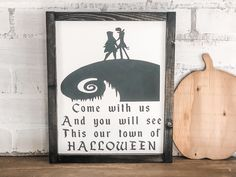 The nightmare before christmas sign / Jack and Sally / Halloween decor / Home decor / Signs / Halloween sign / Wood sign / Halloween / Jack Halloween Wood Signs, Christmas Signs Wood, Halloween Jack, Halloween Bedroom, Halloween Home Decor, Halloween Decorations, Holiday Decor, Nightmare Before Christmas Quotes, Nightmare Before Christmas Decorations