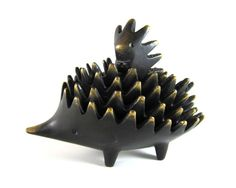 Vintage ORIGINAL Walter Bosse Modernist Hagenauer Stacking Hedgehog Ashtrays - Bronze. $235.00, via Etsy.