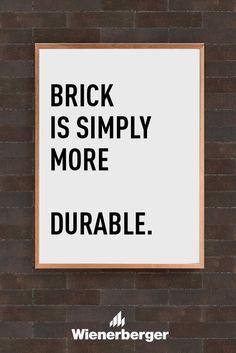 Brick is simply more economical Letter Board, Improve Yourself, Brick, Inspiration, Natural, Wall, Biblical Inspiration, Bricks, Inhalation