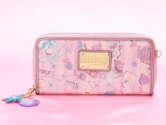 Hello Kitty x HbG Zip Around Long Wallet Purse Pink SANRIO JAPAN With Charmmy Kitty Charm