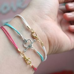 DIY bracelets with a little ring. That heart shaped hook would be great with an arrow.