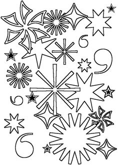 Made by Joel Fourth of July Fireworks Coloring Sheet Print them