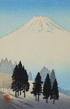 Pine Trees by Fuji