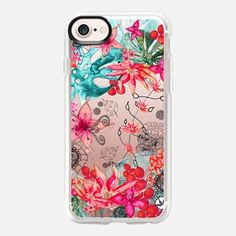 iPhone 7 Case TROPICAL GARDEN HTC One M8 transparent case