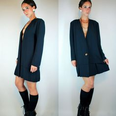Vintage 80s Drop Waist Long Sleeve Mini Dress by BluegrassVoodoo