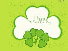 Happy St. Patrick's Day clover desktop wallpaper