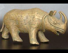 African Art, Rhinoceros Figure on Deco Art Africa African Sculptures, Rhinos, Rhinoceros, Selling Art, West Africa, Tribal Art, African Art, Weights, Precious Metals