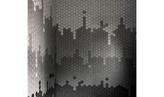 mozaika ceramiczna heksagonalna ciemno szara matowa