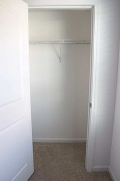 Basic DIY Closet Shelving Diy Closet Shelves, Closet Storage, Home Improvement Loans, Home Improvement Projects, Messy House, Small Closets, Wire Shelving, Diy Door, Decorating On A Budget