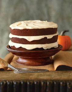 Pumpkin Spice Cake:  Homemade Cake Recipes - Best Recipes for Cakes - Country Living #Wicklessmolly #cake #recipes