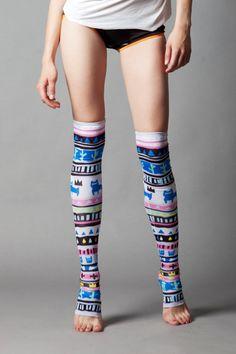 Tribe stockings by QooQooFashion on Etsy, $50.00