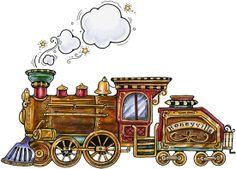 Train Train Clipart, Cute Clipart, Zug Illustration, Kit Scrapbook, Scrapbooking, Baby Barn, Trains, Choo Choo Train, Train Art