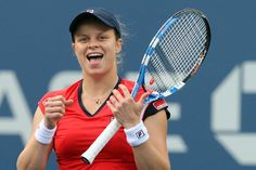 Kim Clijsters (BEL) playing in the 2009 US Open - Getty Images