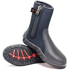 XS Scuba's 8 mm Thug Boots are one extremely warm, well built, and durable cold water dive boot. Built-to-Last theses nylon ll neoprene rubber boots have glued and double blind stitched seams inside and out for strength and durability. The boots are equipped with a large #10-YKK zipper...
