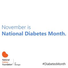 November is National #DiabetesMonth. Check out our Diabetes Month page for resources, information and events! www.nkfm.org/DiabetesMonth