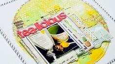 Scrapbooking Process: Tea-Licious - YouTube