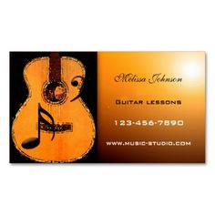 Guitar Lessons Appointment Card Double-Sided Standard Business Cards (Pack Of 100). Make your own business card with this great design. All you need is to add your info to this template. Click the image to try it out!