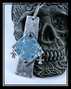 Hand Made Hand cut and formed gothic lightweight Angel Cross made in Cornwall Uk Designer made Statement peice - pinned by pin4etsy.com