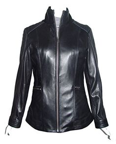 "Product review for Paccilo 4189 Fitted Female Leather Jacket Fashion Soft Genuine Lamb.  - Lambskin, China Collar, Zip Front, No Insulation. Not all leather is the same. When vendors say or state, ""leather or genuine leather"", they generally use ""pig skin"", which is the worst quality of leather and therefore inexpensive. If you choose to buy ""leather or..."