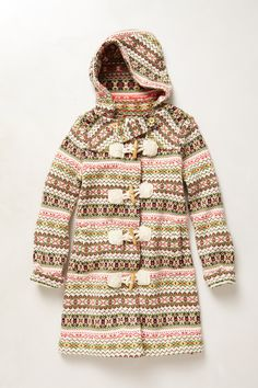Archival Collection: Fair Isle Sweater Coat - Anthropologie.com