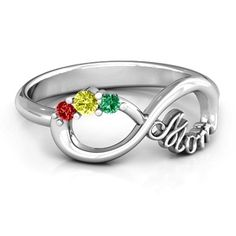 Mom's Infinite Love Ring with 2-10 Stones #jewlr