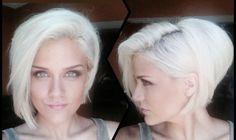 white hair platinum blonde asymmetrical bob girl hairstyle new hair ...