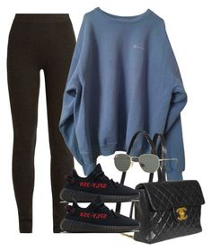 """""""Untitled #3217"""" by camilae97 ❤ liked on Polyvore featuring Ryan Roche, Chanel, adidas and Ray-Ban"""