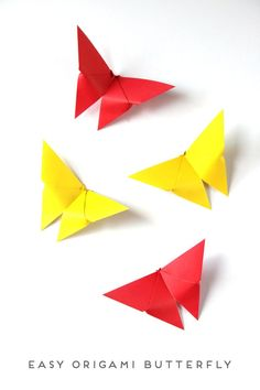 Set your heart aflutter with these easy origami butterflies This sweet butterfly is simple to Origami Butterfly Easy, Instruções Origami, Paper Crafts Origami, Origami Design, Origami Hearts, Origami Balloon, Origami Horse, Heart Origami, Craft Ideas