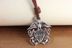 Retro Personality Eagle Anchor Pendant Necklace,free shipping, looback ,looback.com, $8.99