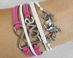 love forever bracelets love infinite birds by lifesunshine, $7.99