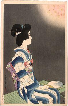 "Ito Shinsui - ""Fireworks"", 1932"