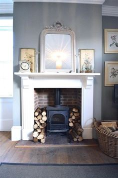 Hottest Free Fireplace Hearth log burner Tips Super Wood Burning Stove Fireplace Fire Surround Log Burner Ideas Log Burner Living Room, Living Room With Fireplace, New Living Room, Living Room Decor, Large Living Rooms, Living Area, Fireplace Surrounds, Fireplace Design, Fireplace Ideas