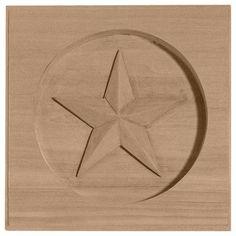 "Ekena Millwork Austin 3 1/2""H x 3 1/2""W x 5/8""D Star Rosette"