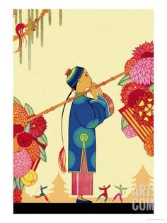 Chinese Fairy Tale Art Print by Frank Mcintosh at Art.com