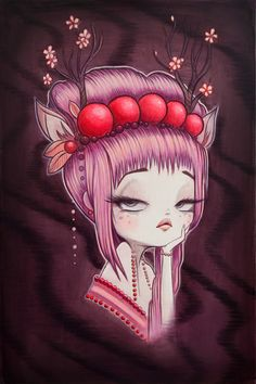 Anarkitty Original Painting : My Little Dear. 40x60cm Acrylic on Canvas Now available in my shop.