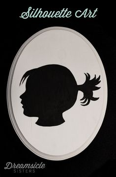 DIY silhouette art for girls decor Diy Projects To Try, Crafts To Do, Craft Projects, Crafts For Kids, Paper Crafts, Xmas Crafts, Decor Crafts, Silhouette Art, Silhouette Projects