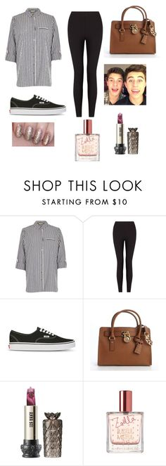 """""""Untitled #105"""" by mojbowman ❤ liked on Polyvore featuring River Island, Lyssé Leggings, Vans, MICHAEL Michael Kors and Anna Sui"""