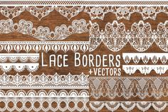 Vector Lace Border Clipart Lace by PaperElement on Creative Market