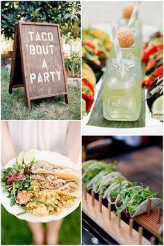 foodie-wedding-bar-tacos-mexican-food Rockwell Catering and Events Wedding Food Bars, Wedding Food Stations, Wedding Catering, Wedding Foods, Diy Wedding Reception Food, Reception Ideas, Rustic Wedding, Evening Wedding Food, Party Wedding