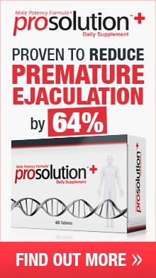 ProSolution Plus is Clinically Proven to Improve Premature Ejaculation By Up to 64%