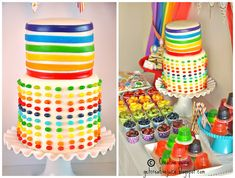 Rainbow jelly bean party cake NEED :0