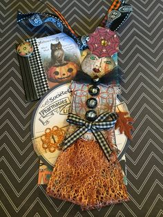 Halloween Tag Swap 2015 by L'Ann Lackey using Catherine Moore's Character Constructions