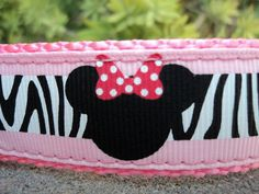 Check out this item in my Etsy shop https://www.etsy.com/listing/105850041/dog-collar-minnie-mouse-wild-1-wide-side