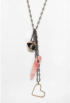 I'm digging these charm necklaces.