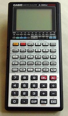 Vintage Casio Scientific Graphing Pocket Calculator, Model fx-7000GA, Made in Japan, 1990.