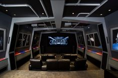 I'm sure this could be created from recycled materials; all I know is it's the coolest Nerd Cave media room I've ever seen!