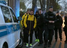 #GERMAN #FOOTBALL TEAM #ATTACKED WITH THREE ROADSIDE BOMBS...
