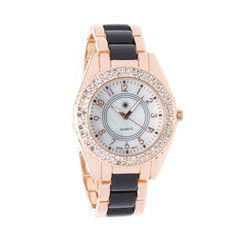 This texturally-intriguing watch is hands-down haute! With a rhinestone-laden bezel, Posh & Polished demands Brit-inspired pieces, like a herringbone motorcycle jacket and paneled leather leggings.