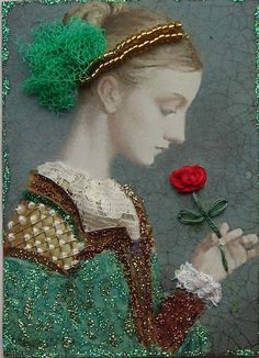 First Rose by James C. Christensen.
