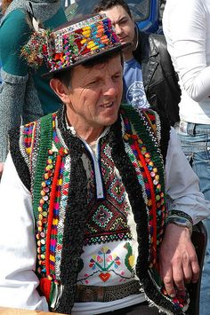 Hucul in traditional costume at Plac Wolnica during a traditional market (Wielkanocny Festiwal Tradycji Obrzedu)